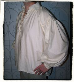 Finally... we have a little more for the pirates, lords, buccaneers, and knights of the realms. The classic, puffy sleeve shirt is a wardrobe