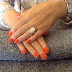 electric orange shellac