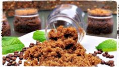 Coffee Mint Sugar Scrub - http://www.howtomakebathsalts.com/coffee-mint-sugar-scrub/