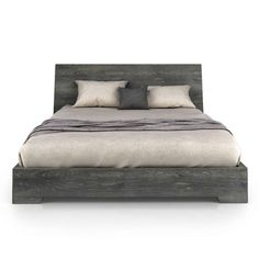Union Bed from Huppe / $1761.48  Queen / This finish is 21 Anthracite, birch veneer / YLiving