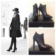 """SALE! Saint Laurent Black Paris Pointy Booties 37+ Sleek, stylish booties in Seta Calf with 4.5"""" 110mm heels, 1/2"""" hidden platform.  Worn only once.  Comes with box and dust bag.  These are a little too high for me.  I'm willing to trade for the all black leather see by Chloe pointed booties.  Will take only $300 if you have these boots in my size to trade!!! Saint Laurent Shoes Ankle Boots & Booties"""