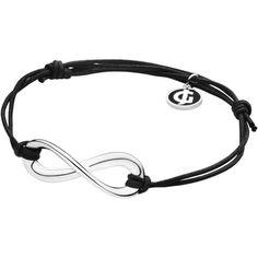 Infinity Bracelet - Sterling Silver ($140) ❤ liked on Polyvore