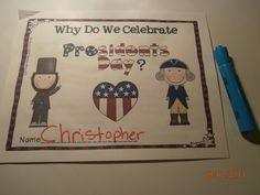 Teacher Mom of 3: Presidential Preview and a FREEBIE!  Presidents' Day literacy packet