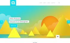 Alex Araujo Visual UI Designer #portfolio #brightcolors #webdesign