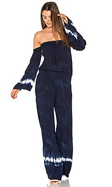 Shop for Young, Fabulous & Broke Estelle Jumpsuit in Indigo Border Wash at REVOLVE. Young Fabulous And Broke, Jumpsuit With Sleeves, Playsuit Romper, Seafolly, Long Sleeve Romper, Indigo, How To Wear, Clothes, Barn Dance