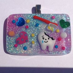 Dentist Gift Happy Cavity Resin Tooth Brush by KawaiiWhimsy, $19.00