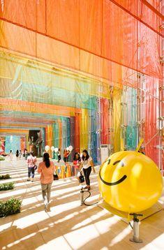 """Archifest 2016 Pavilion"" has been built using construction materials | DP Architects"