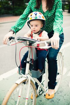 Many readers have asked how to ride a bike with a baby.…