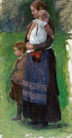 Christian Skredsvig (1854-1924): Studie til Menneskens Søn, 1890