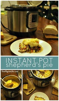 Instant Pot Shepherd's Pie- Take Two - This Pilgrim Life - Shepherd's pie is rich and filling and so delicious! Make it in the Instant Pot and save time and - Instant Pot Pressure Cooker, Pressure Cooker Recipes, Pressure Cooking, Instant Cooker, Healthy Recipes, Crockpot Recipes, Cooking Recipes, Cooking Ideas, Crockpot Dishes