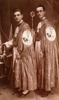 Antigua foto Penitentes Semana Santa MÁLAGA