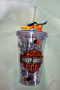 I just added this #personalized #tumbler to my #Etsy shop. It is a #Harley-Davidson double-insulated tumbler.