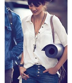 classic white button down shirts. I need to buy more latering necklaces