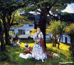 In the Country Artwork by Leon Kroll Hand-painted and Art Prints on canvas for sale,you can custom the size and frame