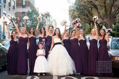 dark purple sweetheart bridesmaid dresses #purple #long #strapless