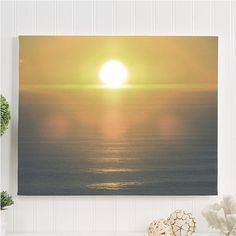 "sunset canvas gallery wrap / nature art canvas print / blue gold large canvas wall hanging / 8x10 11x14 16x20 24x36 / ""Sonoma Coast Sunset"""