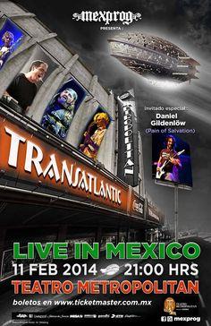 El supergrupo de Rock Progresivo TRANSATLANTIC por primera vez en México.