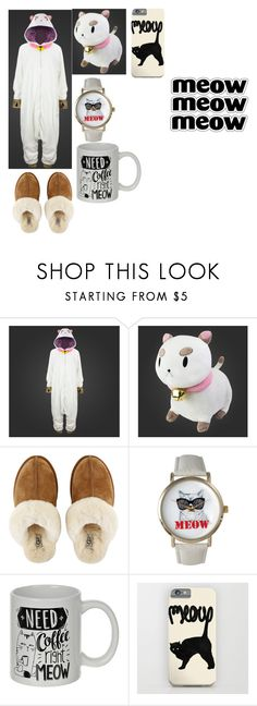 """""""PuppyCat"""" by scorpio-queen ❤ liked on Polyvore featuring UGG and Olivia Pratt"""
