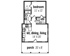 small cottage house plans, perfect Mother in law suite Small Cottage House Plans, Small Cottage Homes, Cottage Floor Plans, Small Cottages, Cottage Style Homes, Country House Plans, Tiny House Living, Small House Plans, House Floor Plans