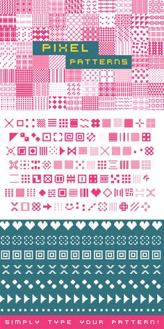 #Pixel #Patterns - #Ding-bats #Fonts Download here: https://graphicriver.net/item/pixel-patterns/10695543?ref=alena994
