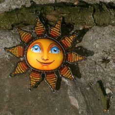 Jarní drátované sluníčko - závěs