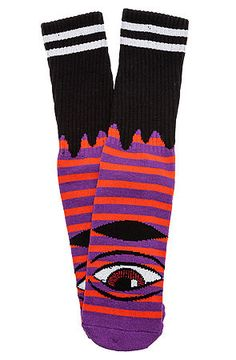 The Sect Eye Stripe Socks in Red and Purple by Toy Machine  http://facebook.com/killersockz