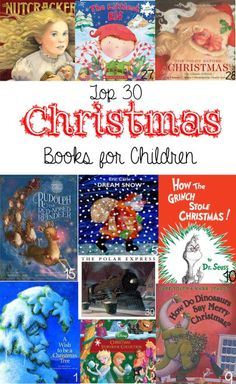 30 of the Best Christmas Books for Children List, from the classics to the new and everything in between. Books the whole family will enjoy reading. I'm going to use this list for the book advent we do each year! From TheGraciousWife.com #Christmas