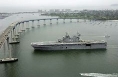 USS Belleau Wood LHA-3 returning home to San Diego on her final voyage 7/11/05