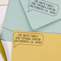 Custom Return Address Stamp - Personalized Return Address Stamp - Speech Bubble. $32.95, via Etsy.