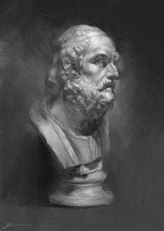 -- Share via Artstation iOS App, Artstation © 2017 Digital Portrait, Portrait Art, Academic Drawing, Renaissance Paintings, Roman Art, Portrait Sketches, Black And White Portraits, 2d Art, Life Drawing