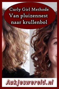 Hoe ik van pluizennest naar krullenbol ging in een paar simpel stappen! Curly Hair With Bangs, Long Curly Hair, Hairstyles With Bangs, Curly Hair Styles, Natural Hair Styles, Haircuts, Curly Girls, Castor Oil Hair Treatment, Prevent Grey Hair