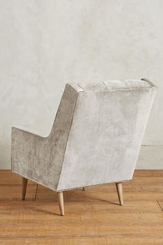 Slide View: 2: Slub Velvet Booker Armchair