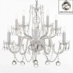 Looks easy to make amazon crystal chandeliers charley pride harrison lane 10 light crystal chandelier with balls mozeypictures Choice Image