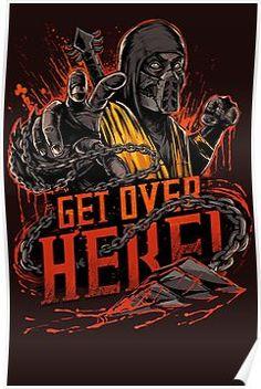 Mortal Kombat Scorpion T-Shirt - Get Over Here Shirt Mortal Kombat Scorpion, Art Mortal Kombat, Candy Crush Saga, Video X, Video Game Characters, Dc Characters, Game Boy, Geek Art, Nerd Geek