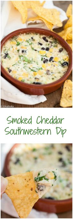 Smoked Cheddar Southwestern Dip-perfectly cheesy and delicious!