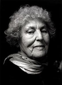 """""""Be critical. Women have the right to say: This is surface, this falsifies reality, this degrades.""""  Tillie Olsen,  writer, and labor, feminist, anti-war activist, photo by Christopher Felver, 2001"""