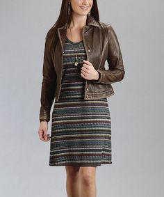 Another great find on #zulily! Wine Stripe Sweater Dress - Women by Stetson #zulilyfinds