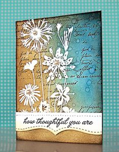 Love all the layers on this mixed media card.