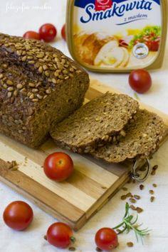Prosty chleb razowy Detox Recipes, Healthy Recipes, Bread Recipes, Cooking Recipes, Pie Dessert, Daily Bread, Pain, Banana Bread, Food To Make
