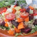 Carrot & Quinoa Salad With Beetroot & Feta #salad with  Protein-rich #quinoa and #feta,  #healthy combination. http://yummytastykitchen.com/carrot-quinoa-salad-with-beetroot-feta/ … #vegetarian