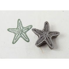 Blockwallah Starfish Carved Wood Stamp by NonaGems on Etsy