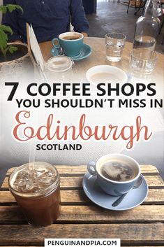 There are so many incredible things to do in Edinburgh, Scotland. But don't forget your well deserved coffee or tea break. We share seven amazing cafes you should try when visiting the Scottish capital! #edinburgh #scotland #cafetips #coffeeandcake #traveltips #coffeeshop