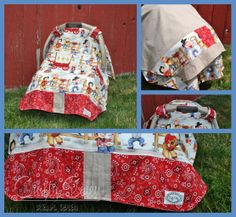 Lil' Cowpoke Car Seat Canopy by MadebyCraftyColey on Etsy, $30.00