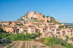 Check out Castle of Alquezar in Spain by Lorena on Creative Market