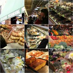 Reading Terminal Market, Philadelphia, PA... Need to look at food in a positive way... Food isn't bad... we sometimes use it in bad ways or make bad choices... Farmers Markets lovely way of enjoying vaariety and so many options....