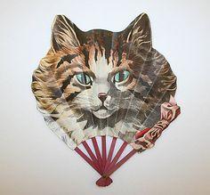vintage cat fan