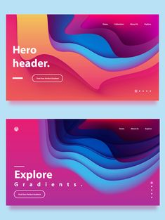 Get super trendy Gradient Backgrounds collection. It contains 30 fluid gradients for your web designs and hero headers. I designed this set in paper cutout art style so stop by and get your gradient fix now! Web Design Websites, Web Design Quotes, Online Web Design, Web Design Tutorials, Simple Website Design, Website Design Inspiration, Website Designs, Graphisches Design, Layout Design