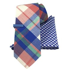 Graduate from deep wools to bright plaids, and tie on our 100% cotton Biltmore Plaid. www.TheTieBar.com