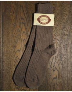 Connemara Merino Wool Walking Socks - Brown