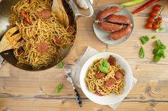 One Pot Sucuk-Spaghetti-Topf / 25 Minuten Rezept / Eintopf